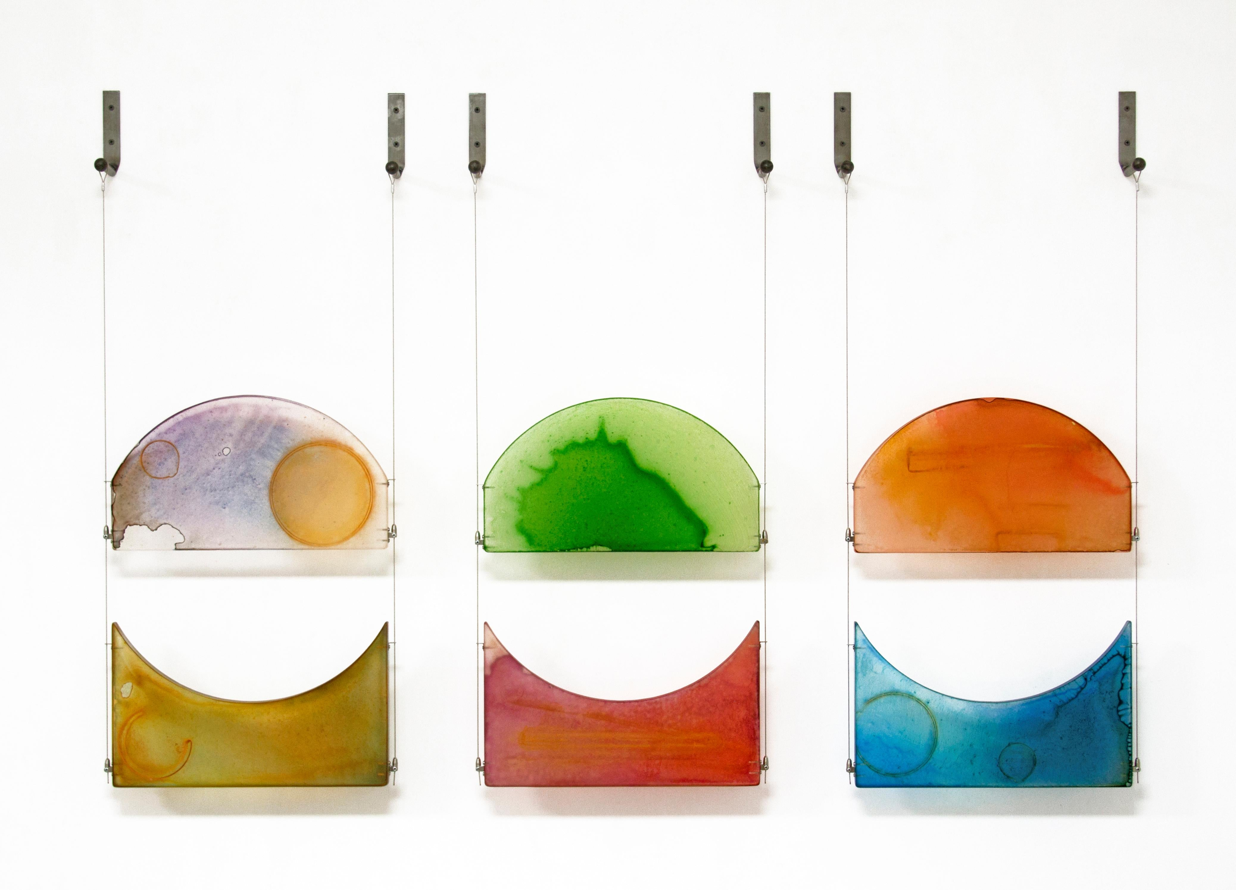 Carrie McGee - To Be Real - multicolor hanging wall sculpture