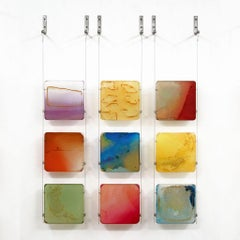 Carrie McGee - Wellspring - multicolor hanging wall sculpture
