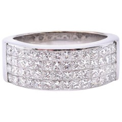 Carriere 18 Karat White Gold Invisible Set Diamond Band