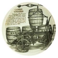 Carro Vinario Plate for Martini & Rossi, by P. Fornasetti, 1960s