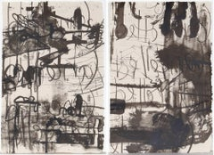 Belle (Diptych), Pair of Abstract Lithographs by Carroll Dunham