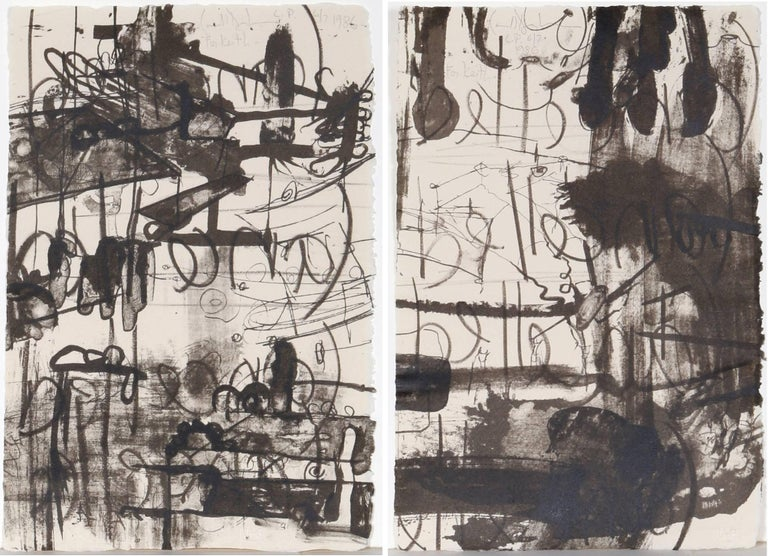 <i>Belle (Diptych)</i>, by Carroll Dunham, 1986, offered by RoGallery