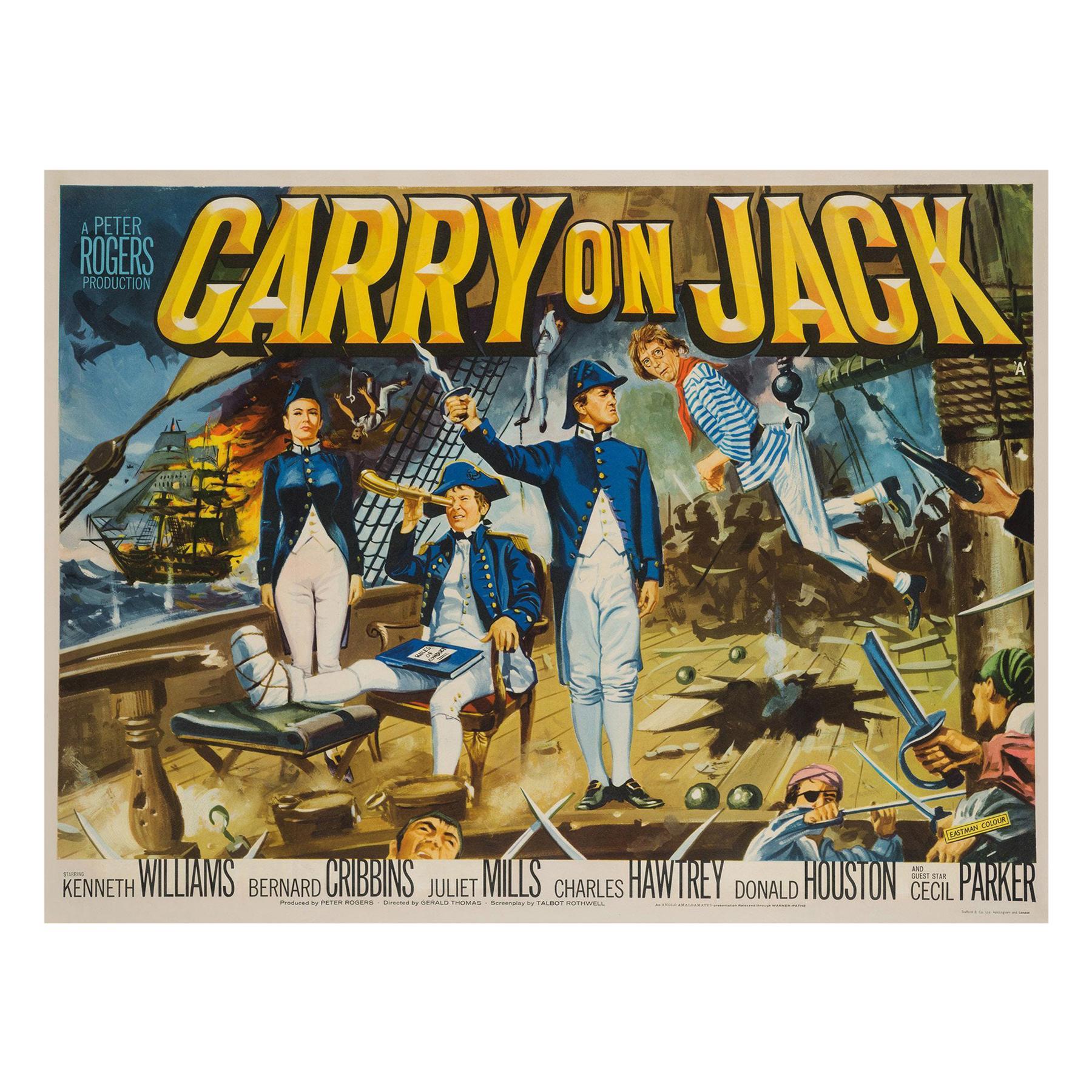 Carry on Jack Original British Film Poster, Chantrell, 1963