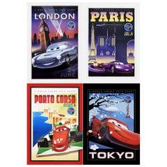 Cars 2 2011 U.S. Film Poster Set of 4