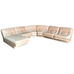 Carson's Six Piece Midcentury Sectional with Lounge Chaise