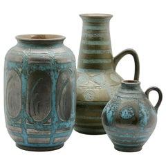 Carstens, Set of 3 Vases in Ankara / Turkish Apricot Pattern, '1959'