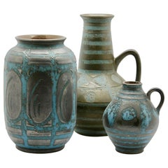 Carstens, Set of 3 Vases in Ankara / Turkish Apricot Pattern, '1959'
