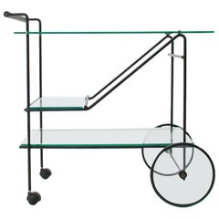 Cart in Metal and Glass, 1980s