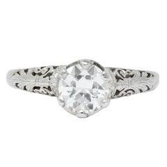 Carter, Gough & Co. Edwardian 0.89 Carat Diamond Platinum Engagement Ring