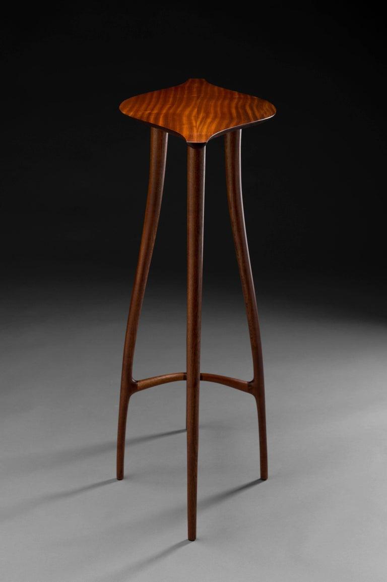 American Craftsman Carter Hopkins Sapele High Table, 2016 For Sale