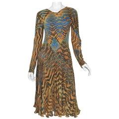 Carter Shibori Art-To-Wear Tye-Dye Bias Dress