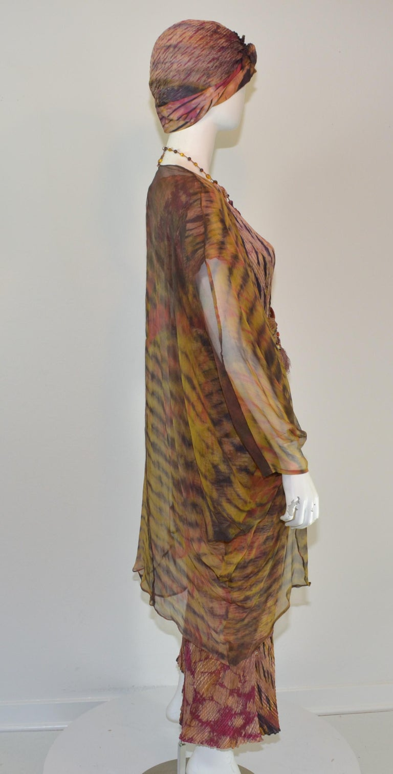Carter Smith Shibori 4 Piece Dress Ensemble from Obiko In Excellent Condition For Sale In Carmel by the Sea, CA