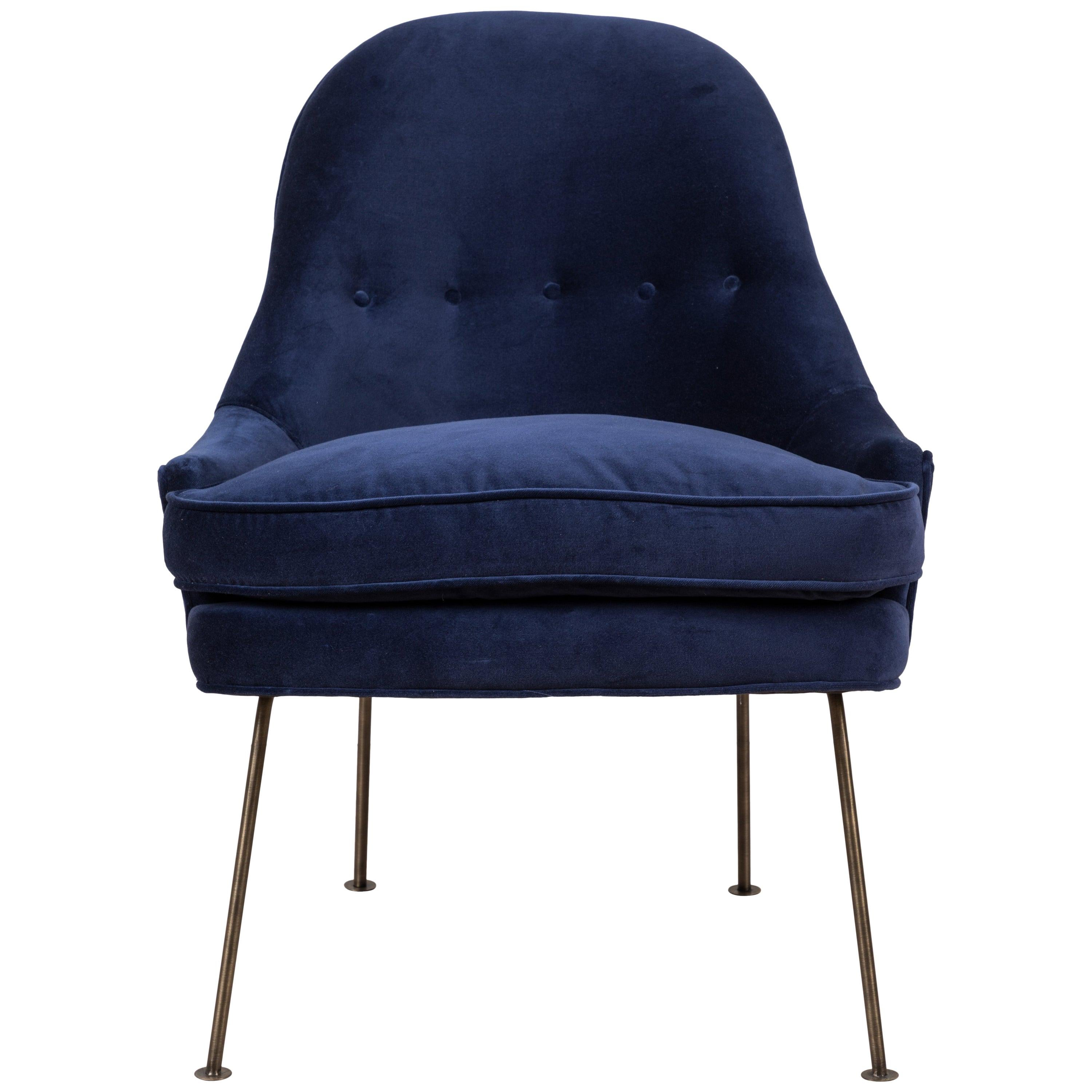 Carthay Chair in Velvet by Lawson-Fenning - In Stock