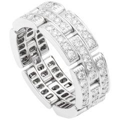 Cartier Maillon Panthère Ring, 3 Diamond Pave Rows