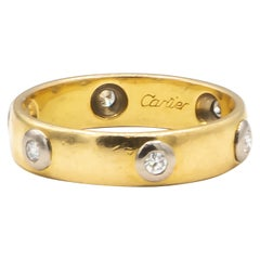 Cartier 0.18 Carat Diamonds 18 Karat Yellow Gold Ring