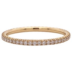 Cartier 0.22 Carat Diamond Eternity Band Set in 18 Karat Yellow Gold