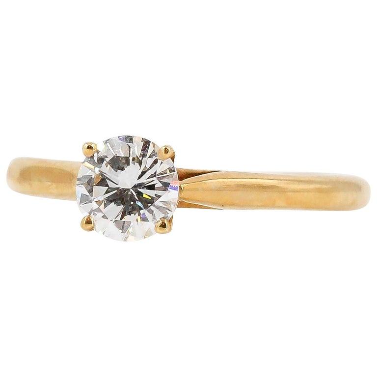 a90ce86d17eb4 Cartier 0.46 Carat Diamond and 18 Karat Gold Engagement Ring