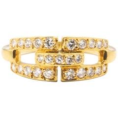 Cartier 0.49 Carat Diamonds 18 Karat Yellow Gold Ring