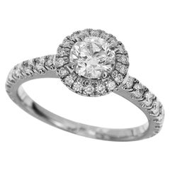 Cartier 0.50 Carat Diamond Platinum Destinee Solitaire Ring