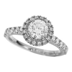 Cartier 0.51 Carat Diamond Platinum Destinee Solitaire Ring