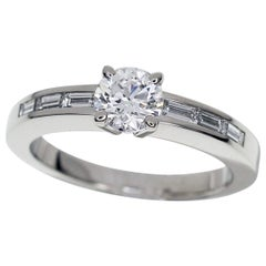 Cartier 0.51 Carat Diamond Platinum Solitaire Déclaration D'Amour Ring