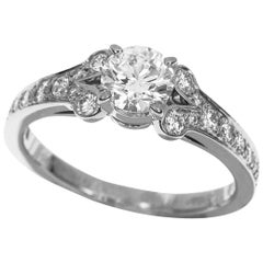 Cartier 0.52 Carat Diamond Platinum Ballerina Solitaire Ring