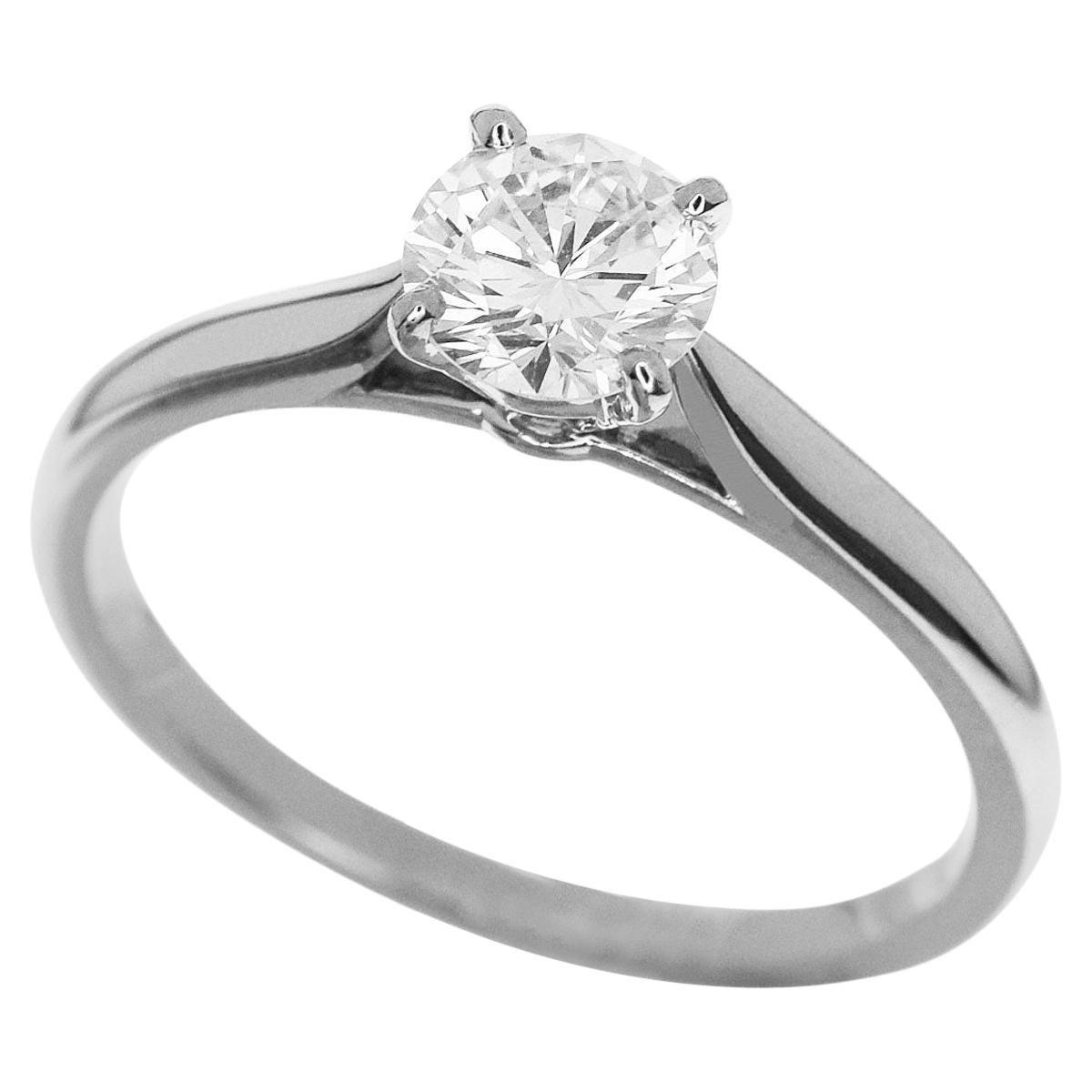 Cartier 0.66 Carat Diamond Platinum Solitaire 1895 Ring