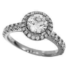 Cartier 0.70 Carat Diamond Platinum Destinee Solitaire Ring