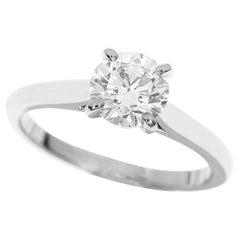 Cartier 0.80 Carat Solitaire Diamond Platinum 1895 Ring
