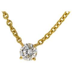 Cartier 0.92 Carat Diamond 18 Karat Yellow Gold Love Support Pendant Necklace