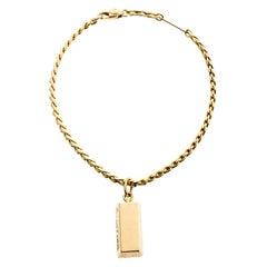 Cartier 1/4 Oz Bar Ingot 18k Yellow Gold Charm Chain Bracelet