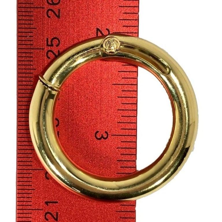 Women's Cartier Large Gold Hoop Earrings for Non Pierced Ears For Sale