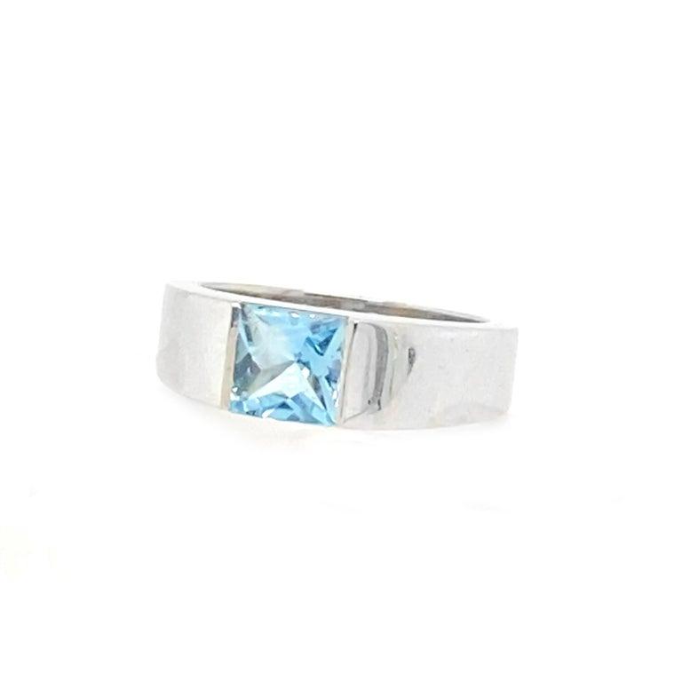 Women's or Men's Cartier 1 Carat Aquamarine Ring For Sale