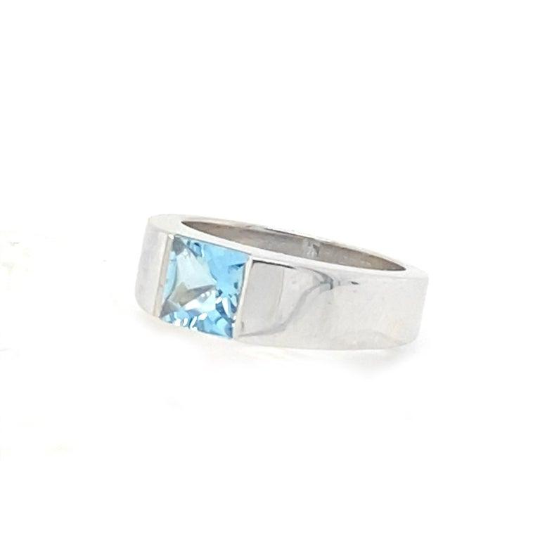 Cartier 1 Carat Aquamarine Ring For Sale 1