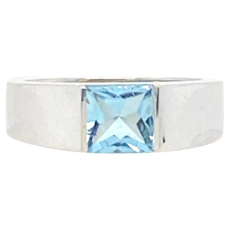 Cartier 1 Carat Aquamarine Ring For Sale