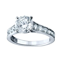 Cartier 1 Carat Total Weight 1895 Platinum Ladies Engagement Ring