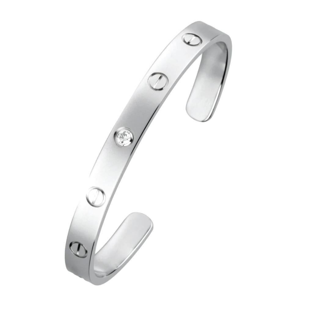 Cartier 1 Diamond White Gold Cuff Love Bracelet
