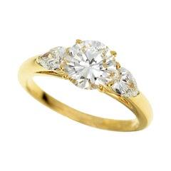 Cartier 1.01 Carat Diamond 18 Karat Yellow Gold Ring