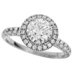Cartier 1.05 Carat Diamond Platinum Cartier Destinee Solitaire Ring