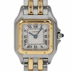Cartier 1120 Panthere Steel and 18 Karat Yellow Gold Panther Ladies Quartz Watch