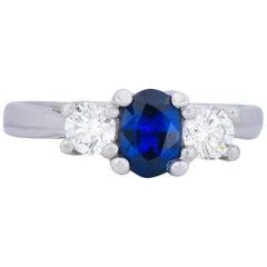 Cartier 1.15 Carat Sapphire Diamond Platinum Ring