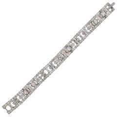 Cartier 12 Carat Diamond Platinum Bracelet