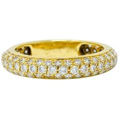 Cartier 1.30 Carat Pave Diamond 18 Karat Gold Etincelle Eternity Band Ring