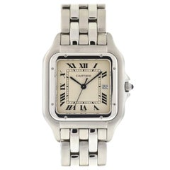 Cartier 1300 Panthere Jumbo Stainless Steel Quartz Men's Watch