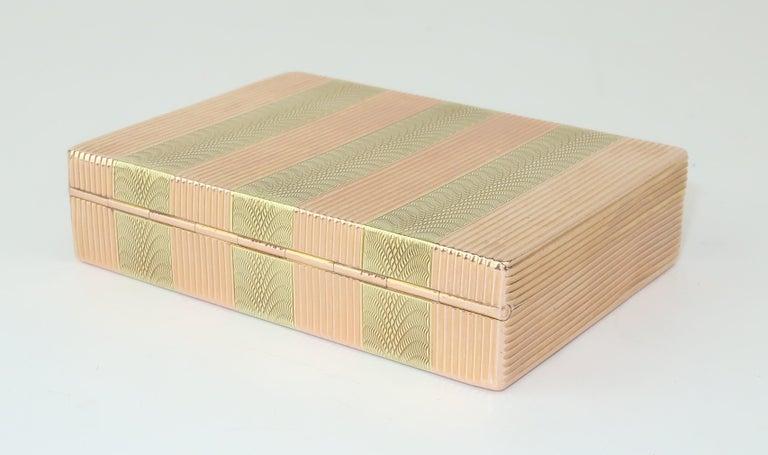 Cartier 14K Rose Gold & Diamond Box In Good Condition For Sale In Atlanta, GA