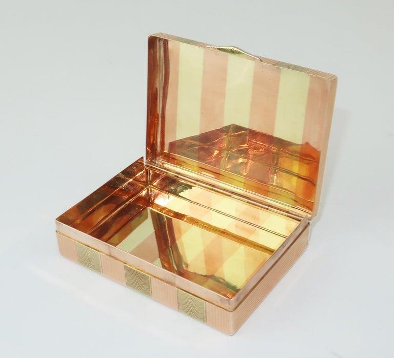 Women's or Men's Cartier 14K Rose Gold & Diamond Box For Sale