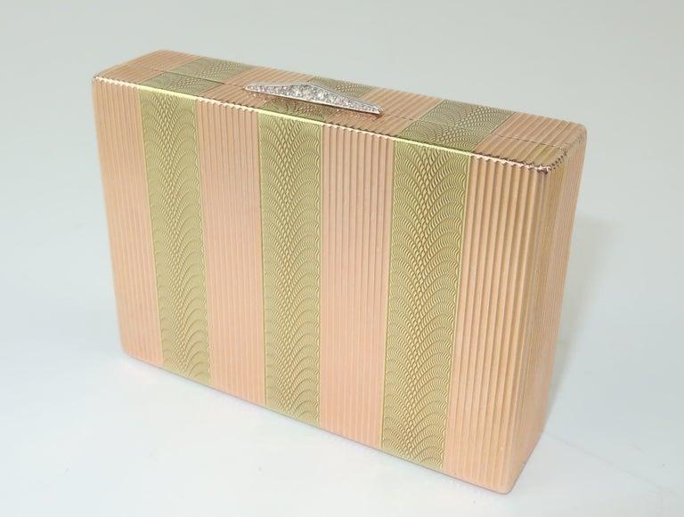 Cartier 14K Rose Gold & Diamond Box For Sale 2