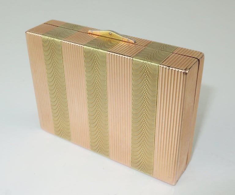 Cartier 14K Rose Gold & Diamond Box For Sale 3