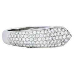 Cartier 1.50 Carat Diamond 18 Karat White Gold Cocktail Ring