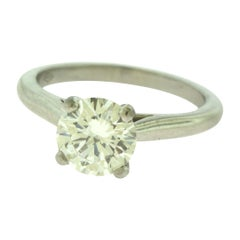 Cartier 1.64 Carat Diamond Solitaire Platinum Ring GIA with Certificate